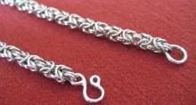 14K White Gold King's Chain