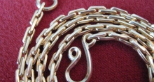18K Yellow Gold Rolled Chain