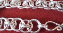 Sterling Silver Double Ring Bracelet