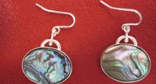 Sterling Silver Earrings with Mother of Pearl