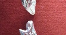 Sterling Silver Shark Tooth Cufflinks